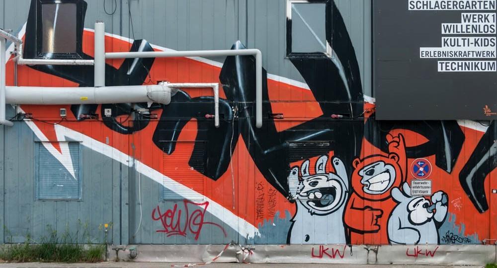 Graffiti, Kunstpark Ost München